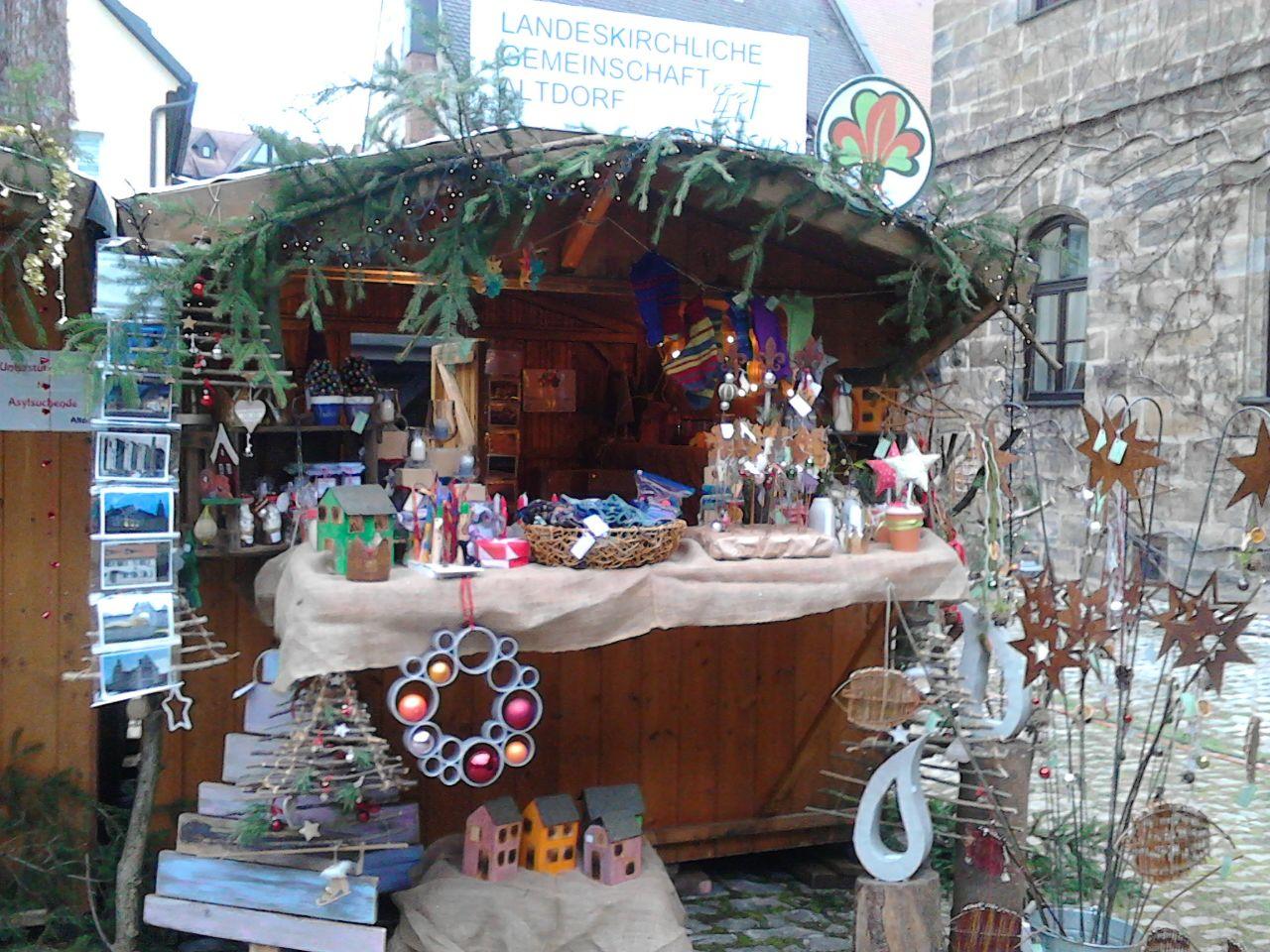 Stand auf dem Altdorfer Weihnachtsmarkt